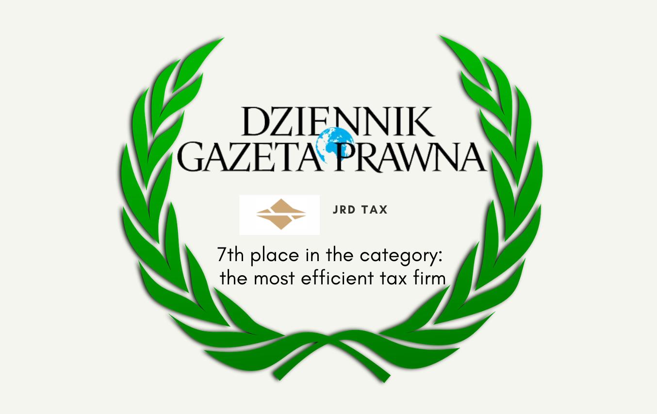Very good score of JRD at the Dziennik Gazeta Prawna ranking 2021